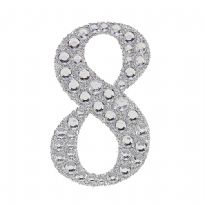 Sparkling Gemstone & Glitter Number 8 Sticker